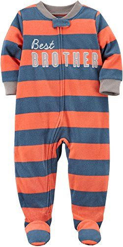 16c79c87d090 Amazon.com Carter s Best Brother Boys One Piece Pajamas carters ...