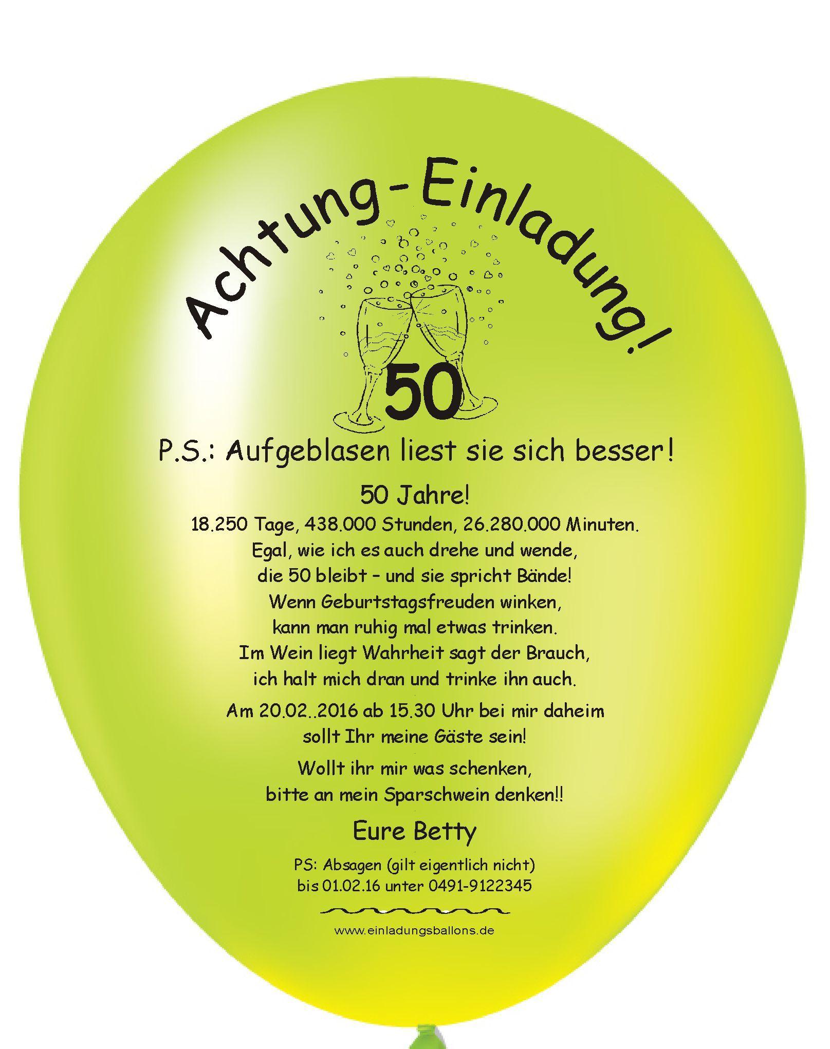 Einladungskarte Zum 50 Geburtstag Einladung 50 Geburtstag