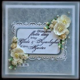 Siv @nne: Bryllupskort