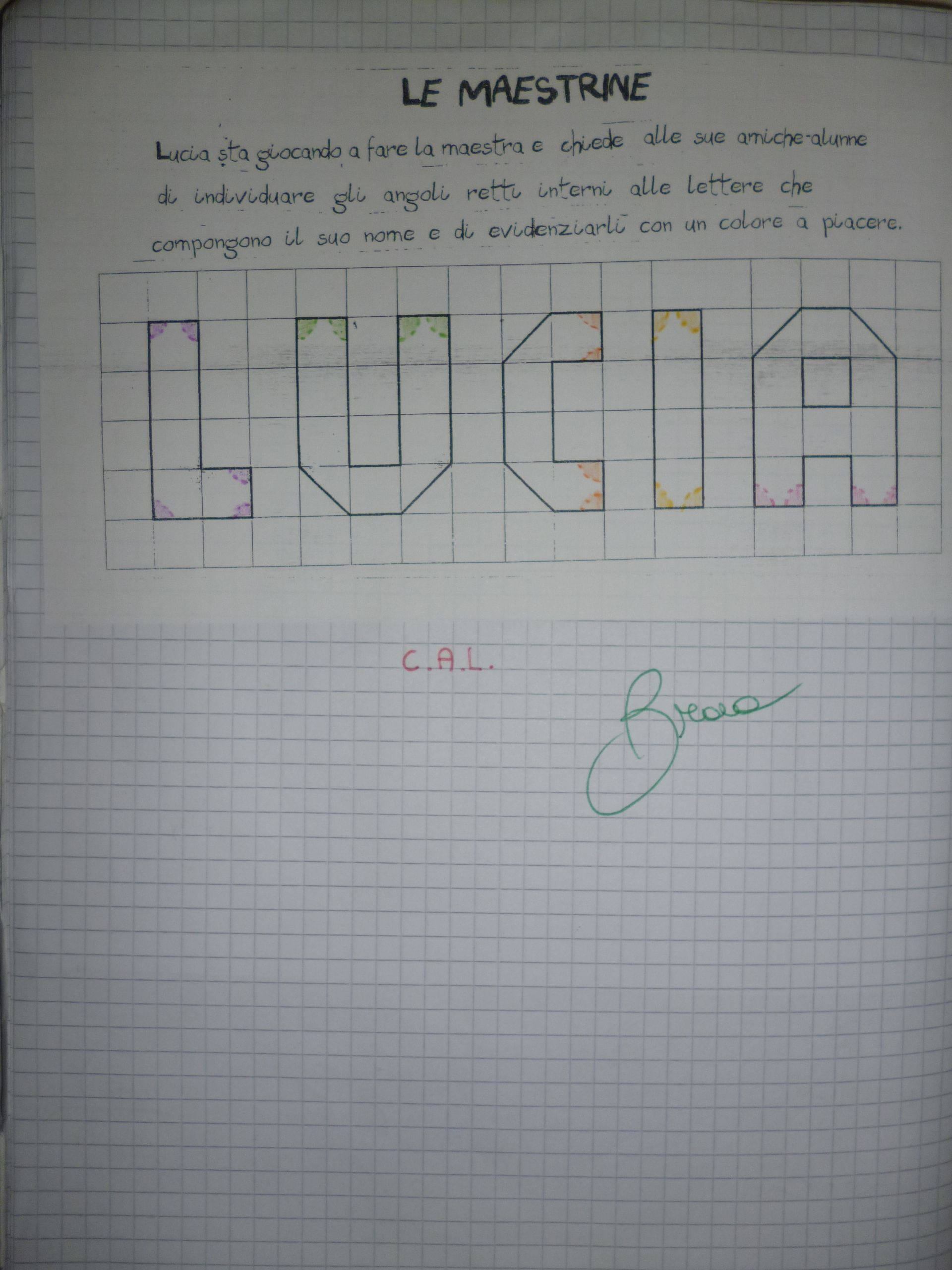 Quaderno Geometria Classe Iii Gli Angoli Con Immagini