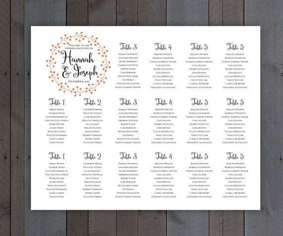 Printable Folk Wedding Seating Chart Simple Rustic Vintage - free printable seating chart