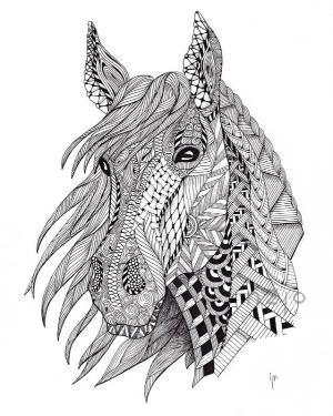 Zentangle Search On Indulgy Com Malvorlagen Pferde Ausmalbilder Mandala Tiere