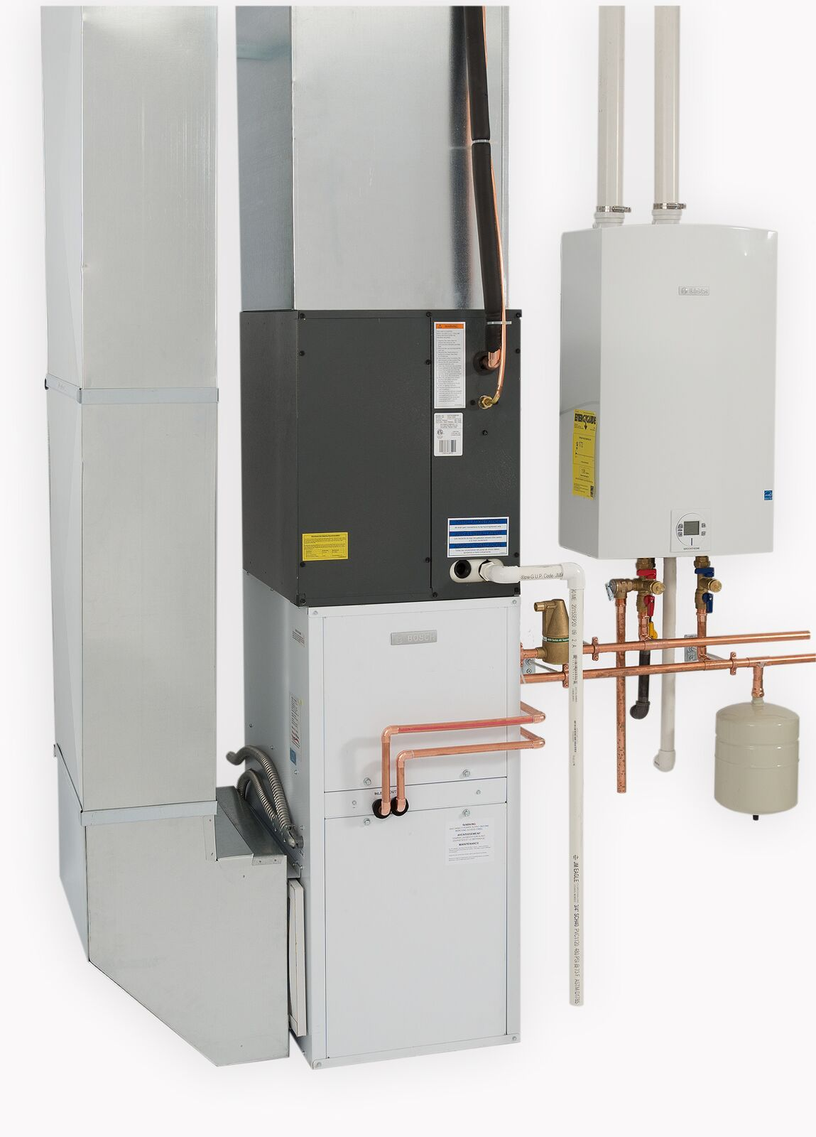 Air Handler Draws Warmth From Tankless Water Heater Tankless Water Heater Air Handler Water Heater