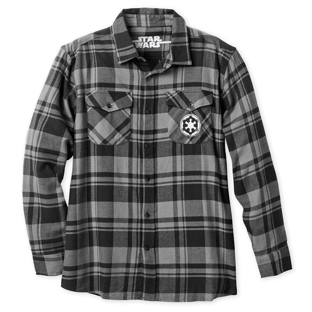 sale retailer watch outlet store sale Stormtrooper Flannel Shirt for Men Star Wars - Official shopDisney ...