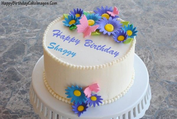 White Birthday Cake With Name Happy Images
