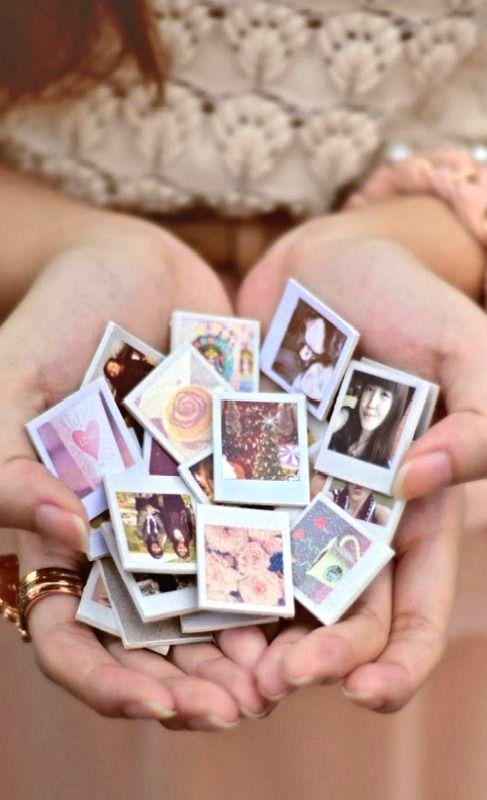 Diy Mini Polaroid Magnets If I Was Crafty Pinterest