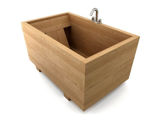 Japanese Ofuro - soaking bath ....I want one small enough for a tiny ...