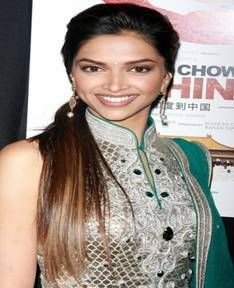 deepika padukone side ponytail hairstyle #bollywood # ...