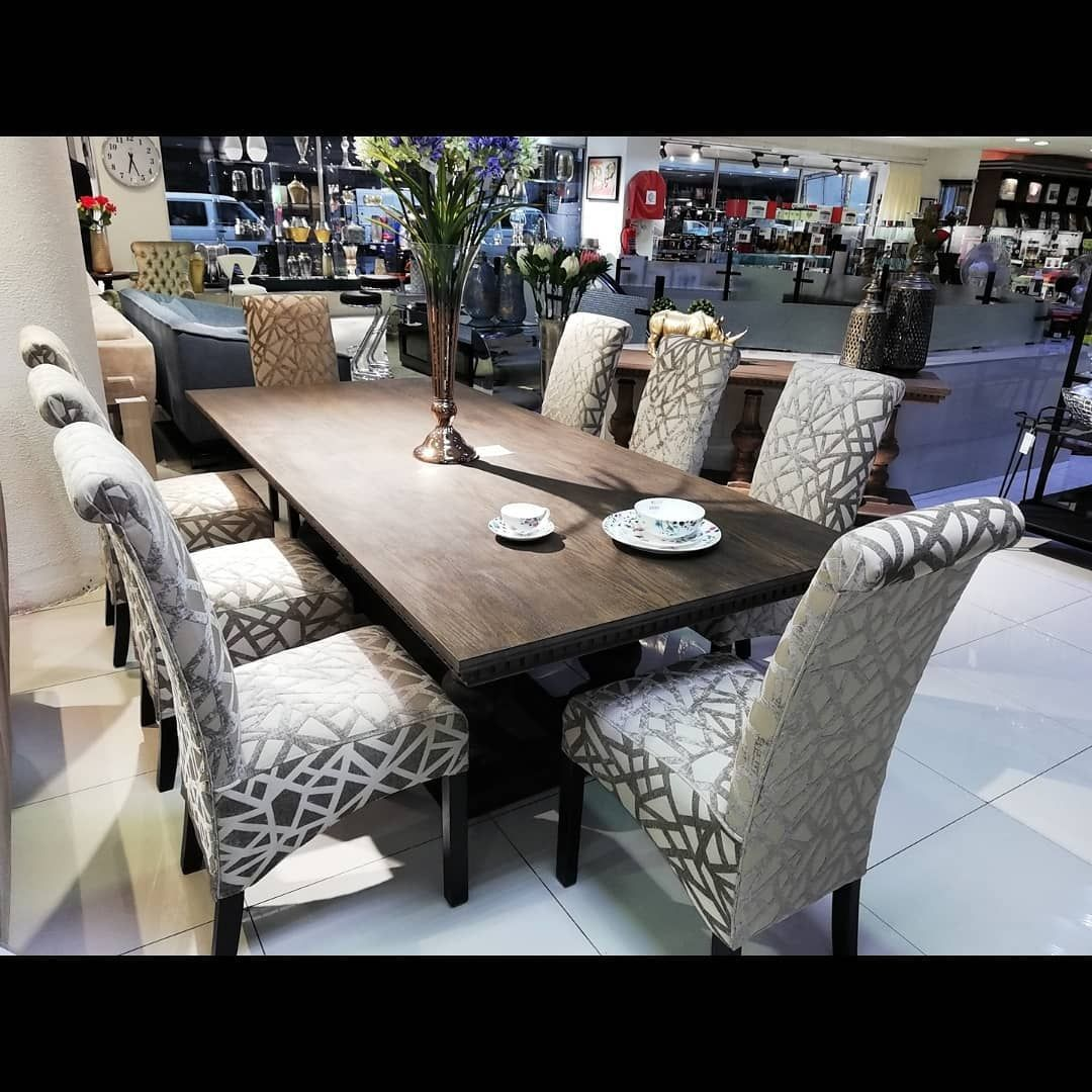 New Alaska Dining Table 8 Scroll Chairs R29 995 00 Chairs Can Be