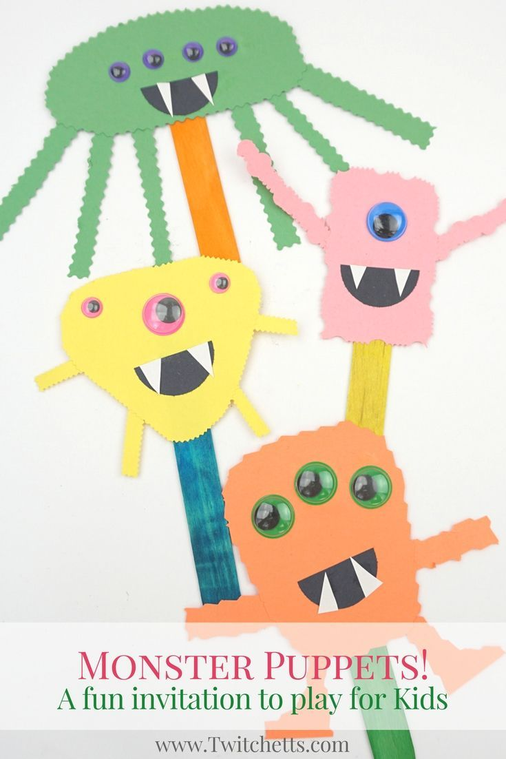 Construction paper monster puppets easy halloween crafts for construction paper monster puppets will build cutting skills while creating fun halloween crafts for kids jeuxipadfo Choice Image