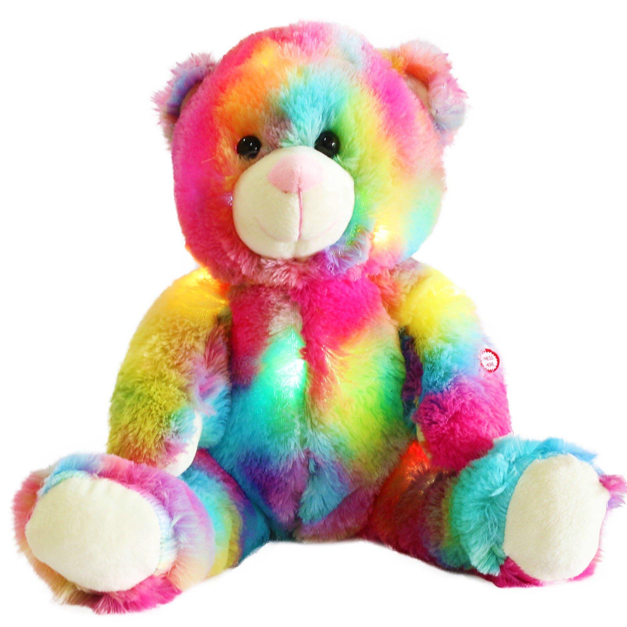 Led Colorful Teddy Bear Day Rainbow Teddy Bear Teddy Bear Stuffed Animal Teddy Bear Day [ 2000 x 2000 Pixel ]