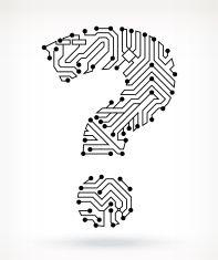 Circuit Board Question Mark vector art illustration