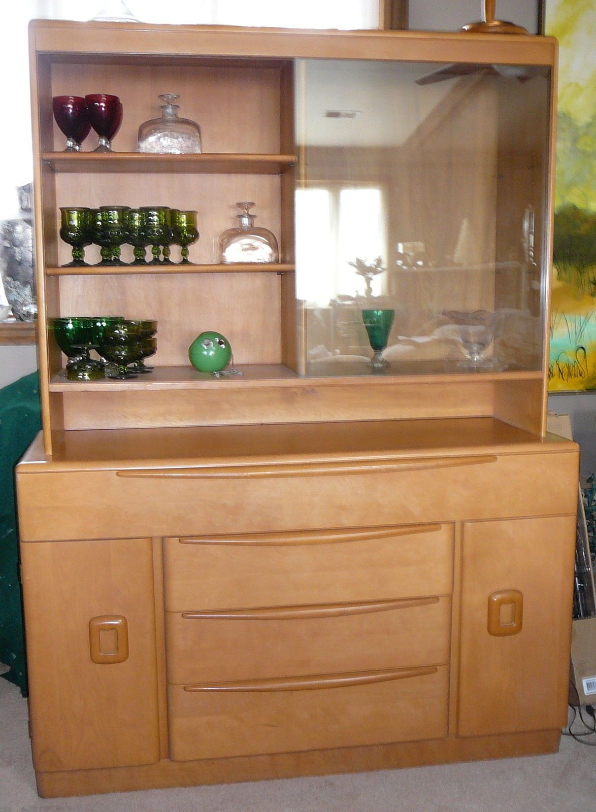 From Pataskala Ohio Heywood Wakefield Lg Credenza China Cabinet Top M509 M593 Only 1 Yr Production Ebay Asking 995
