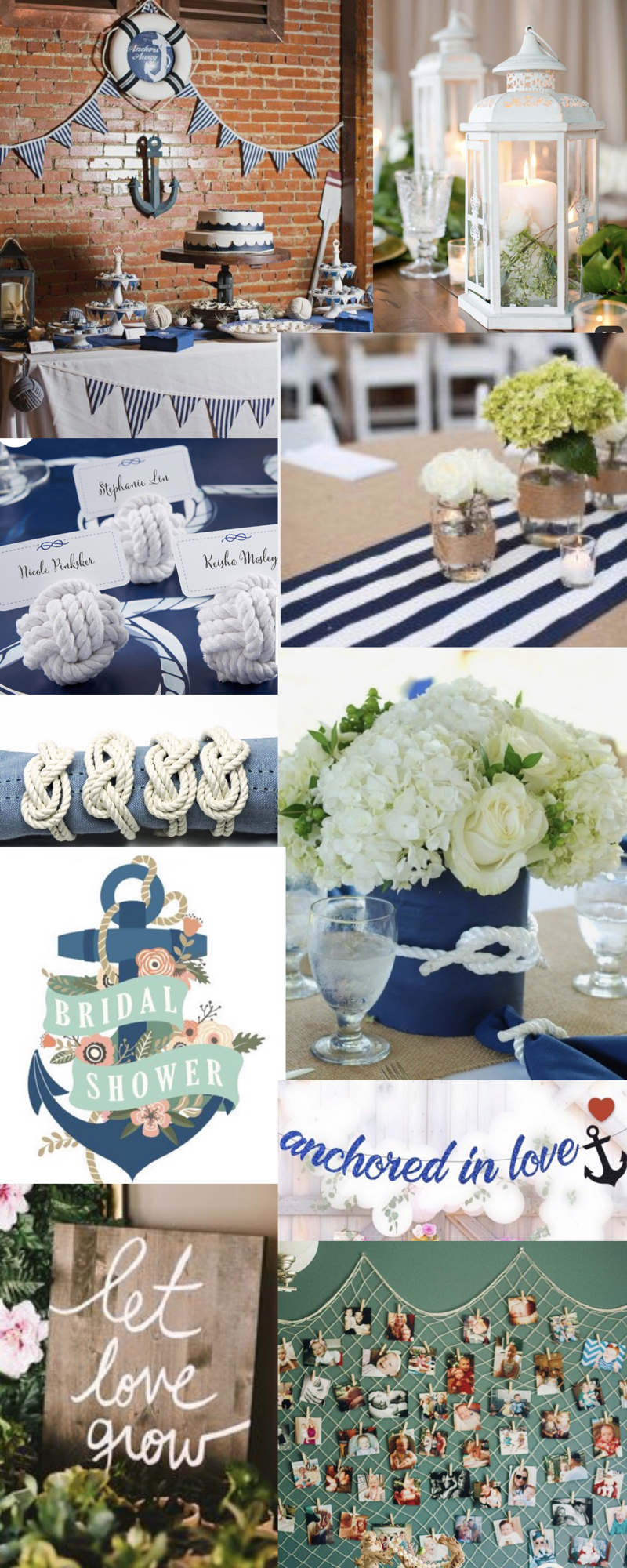 My Nautical Themed Bridal Shower Mood Board In 2020 Nautical Theme Bridal Shower Nautical Bridal Shower Decorations Bridal Shower Theme
