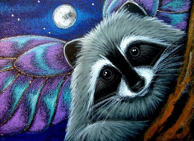 Image result for raccoon paintings