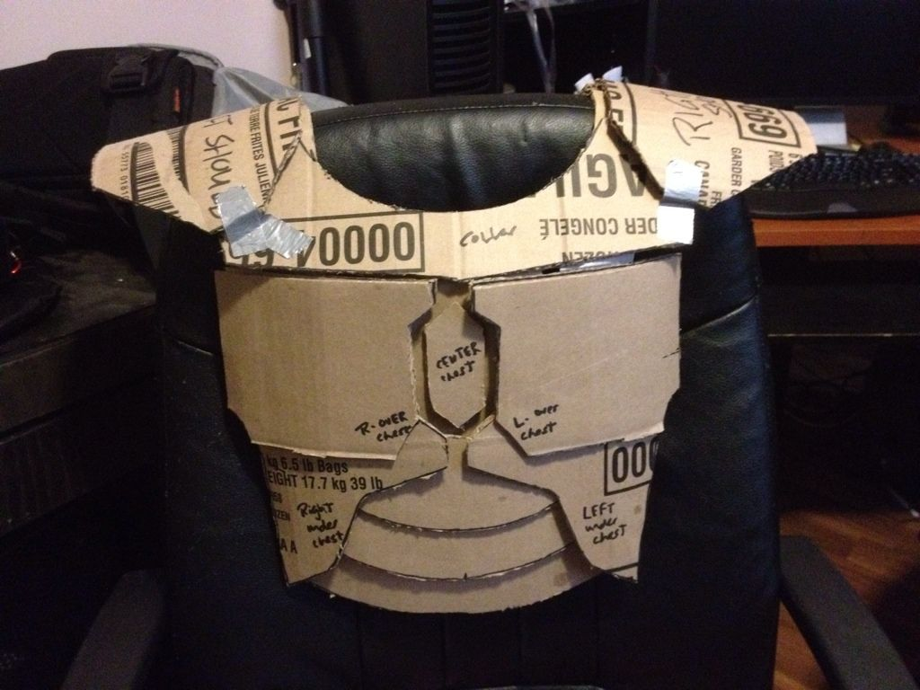 Armored jedi costume build wip pic heavy starwars my for Cardboard armour template