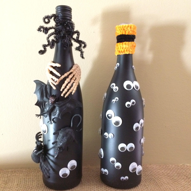 Halloween wine bottles made 10/23/16