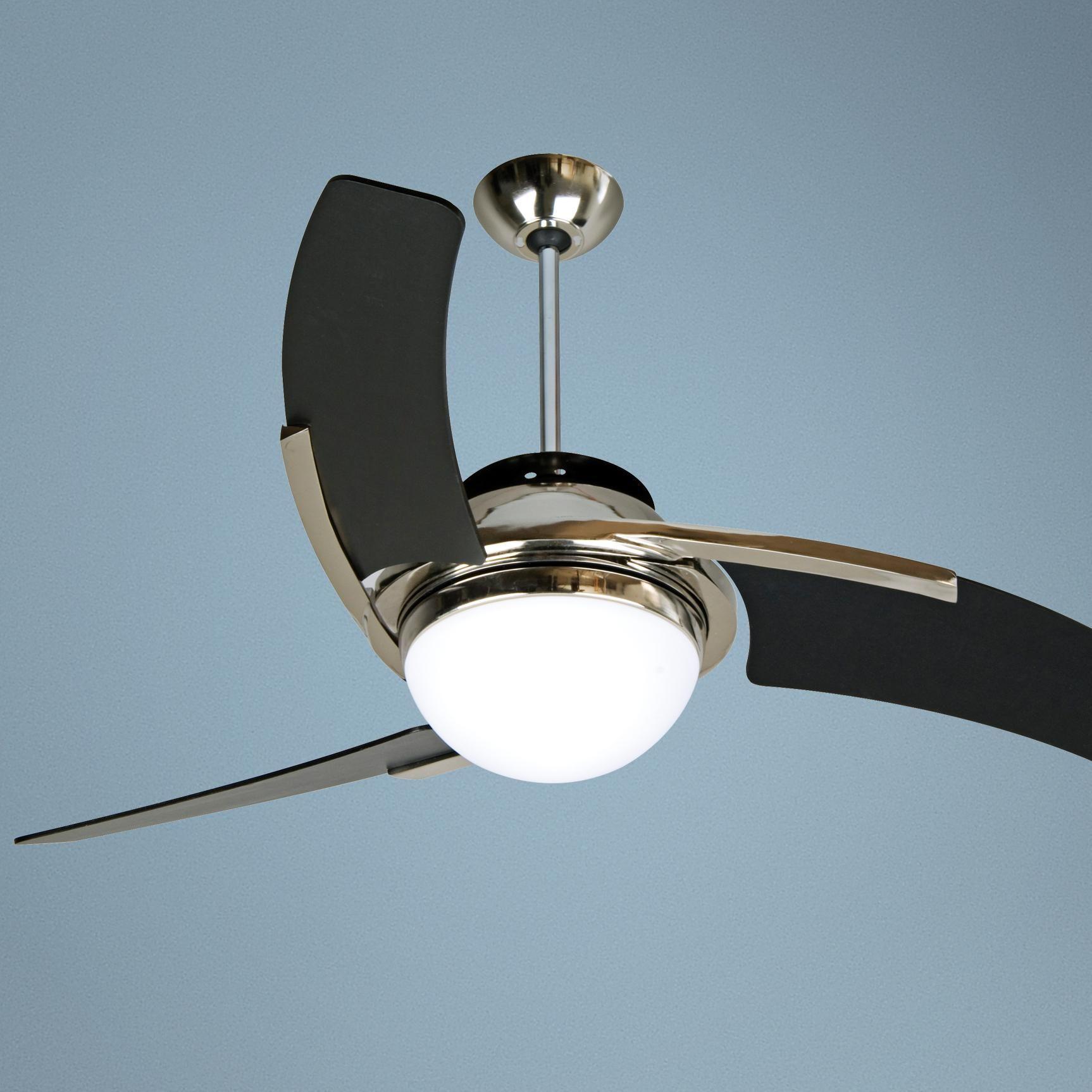 54 Craftmade Juna Polished Nickel Ceiling Fan