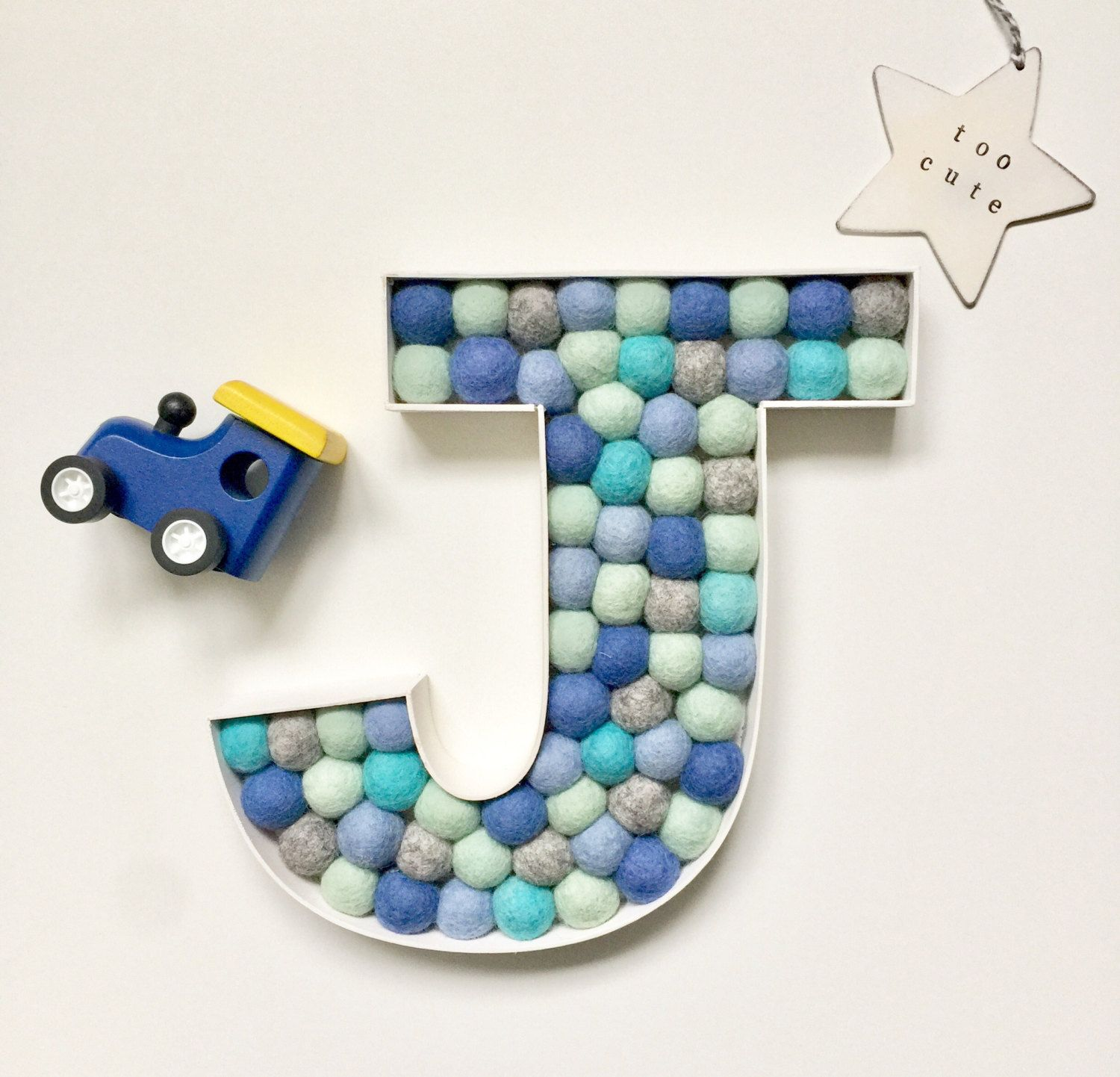 Personalised Baby Gift Letter J Large Wooden Letter New Baby