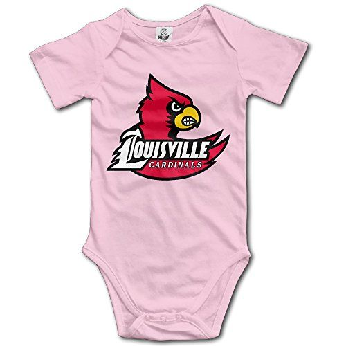 OOKOO Baby's University Of Louisville Bodysuits Pink 24 Months * Learn more @