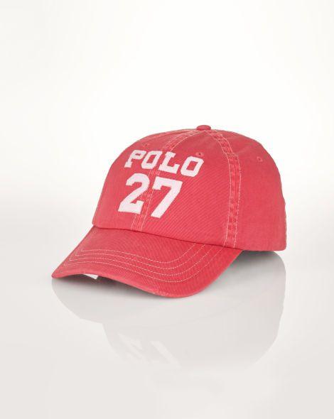 edb3c006b1fcf Distressed Cotton Baseball Cap - Polo Ralph Lauren Hats - RalphLauren.com