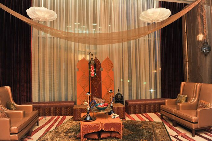 Ritz Resembled A Hookah Lounge With Tapestry Rugs And Gold Furniture More Bizbash