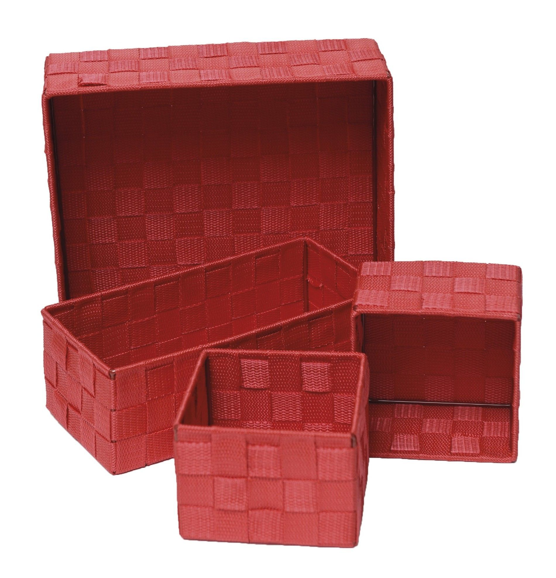 4 Piece Checkered Storage Basket Set