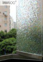Rabbitgoo Rouleau De Film D Coratif Non Adh Sif Electrostatique Occultant 3d Pour Vitrage Vitres Protege Fen Tre Window Films Frosted Window Film Privacy Glass
