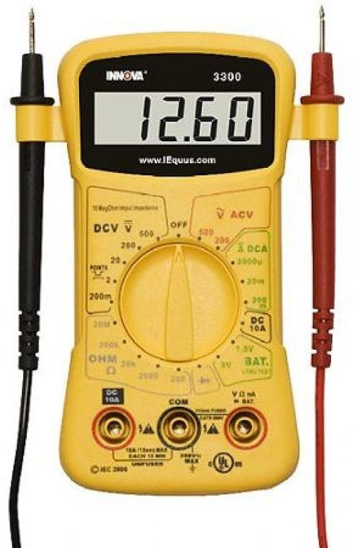 Equus 3300 Hands Free Electrical Testing Volt Ohms Amps Digital Multimeter Innova