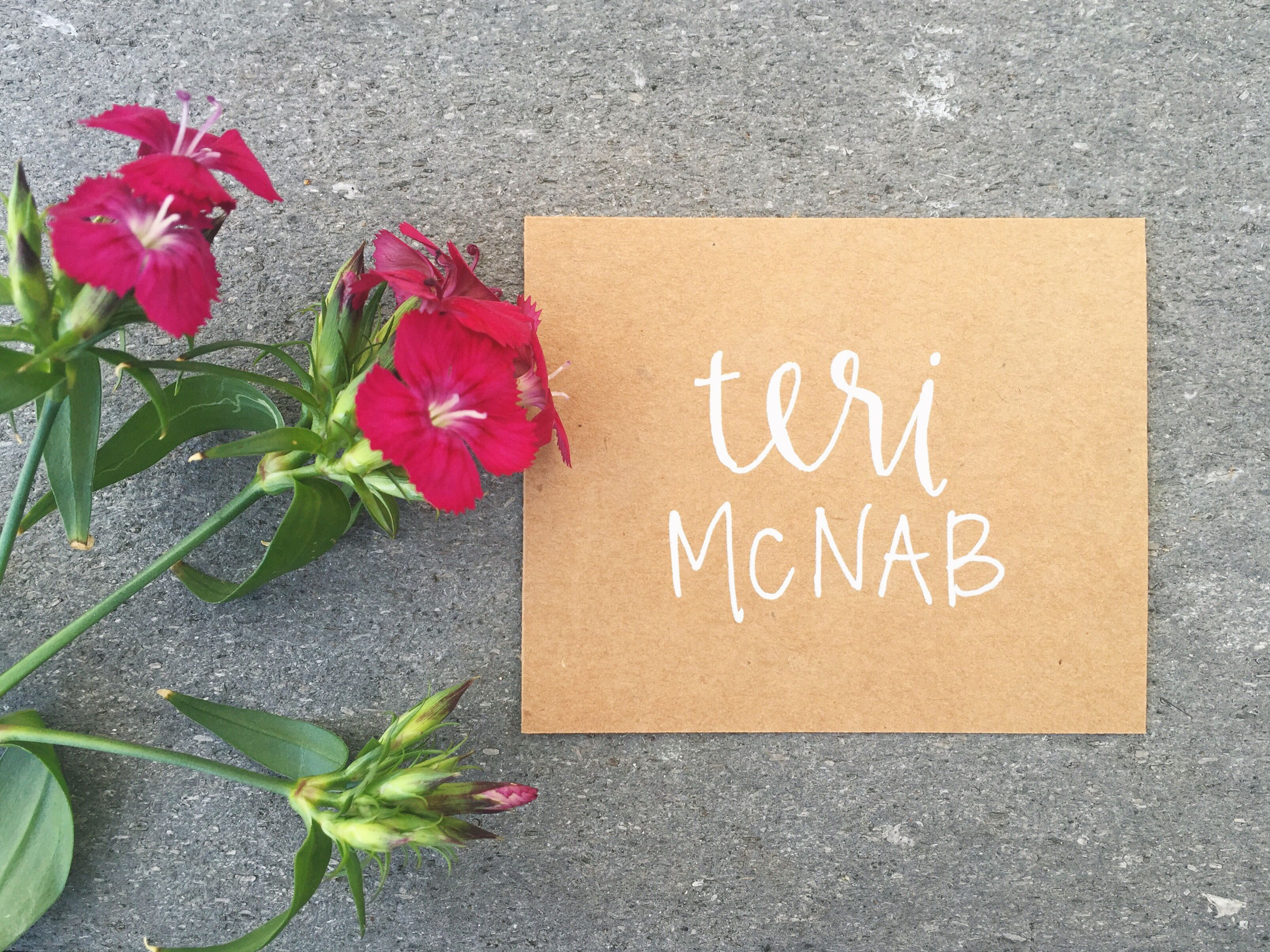 Dinner Party Name Ideas Part - 50: PLACE CARD WEDDING DECOR IDEAS || Wedding Place Cards - Tent Fold - Escort  Card - Black Calligraphy With Kraft Paper - Bride Groom - Dinner Party -u2026