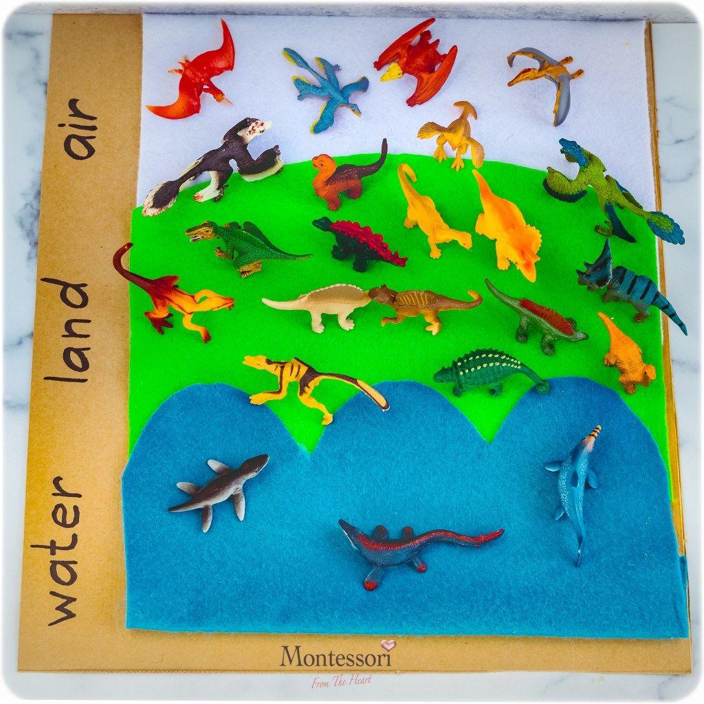 Dinosaur Measure Sort Kids Activities
