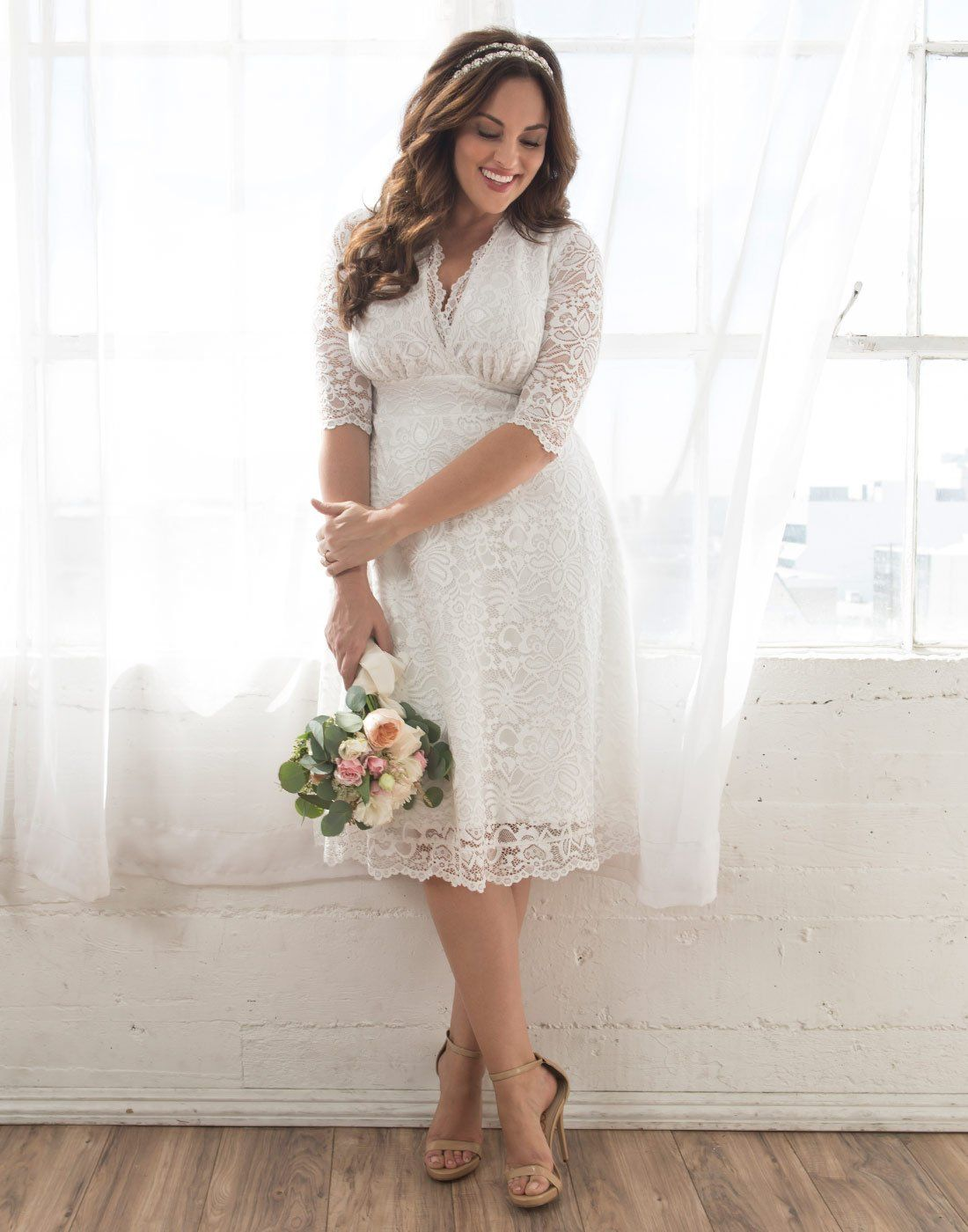 1f6996db7d5 Kiyonna Womens Plus Size Wedding Belle Dress 5X Ivory    Click on the image  for additional details-affiliate link.  womensformaldresses
