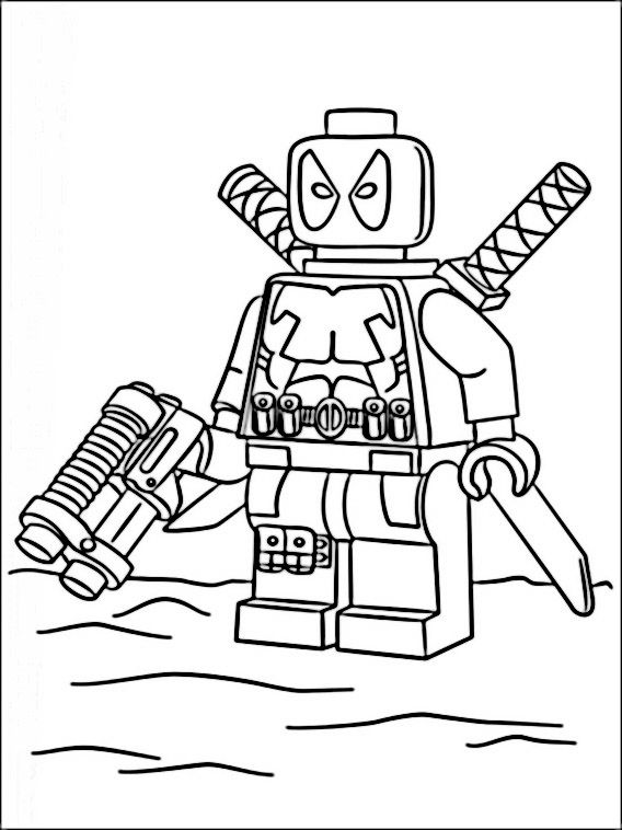 Lego Marvel Heroes Coloring Pages 4 | lian speech | Pinterest | Lego ...