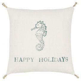Holiday Seahorse Pillow