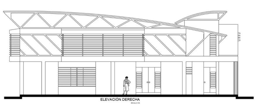 mercial building elevation design provided in this file