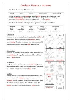 collision theory worksheet collision theory worksheets and paragraph. Black Bedroom Furniture Sets. Home Design Ideas