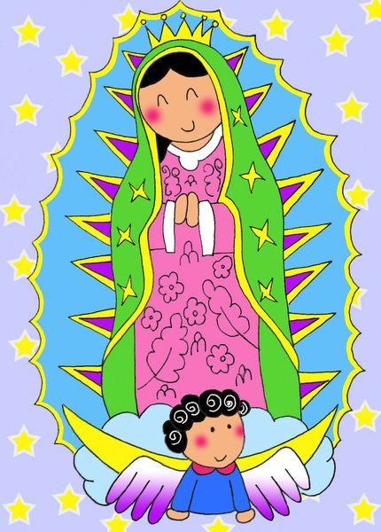 Virgencita Hermosa Virgencita De Guadalupe Caricatura Virgen De Guadalupe Animada Guadalupe
