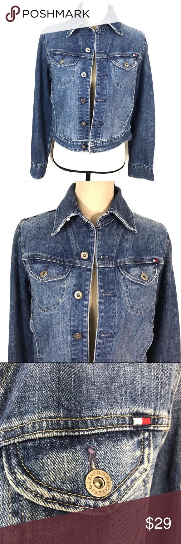 Tommy Hilfiger Blue Wash Cotton Denim Jean Jacket Tommy Hilfiger Clothes Design Denim Jean Jacket [ 1740 x 580 Pixel ]