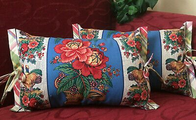 Waverly Rochelle Fabric 20 X 11 Lumbar Decorator Pillow French Country Chi #fashion #home #garden #homedcor #pillows (ebay link)