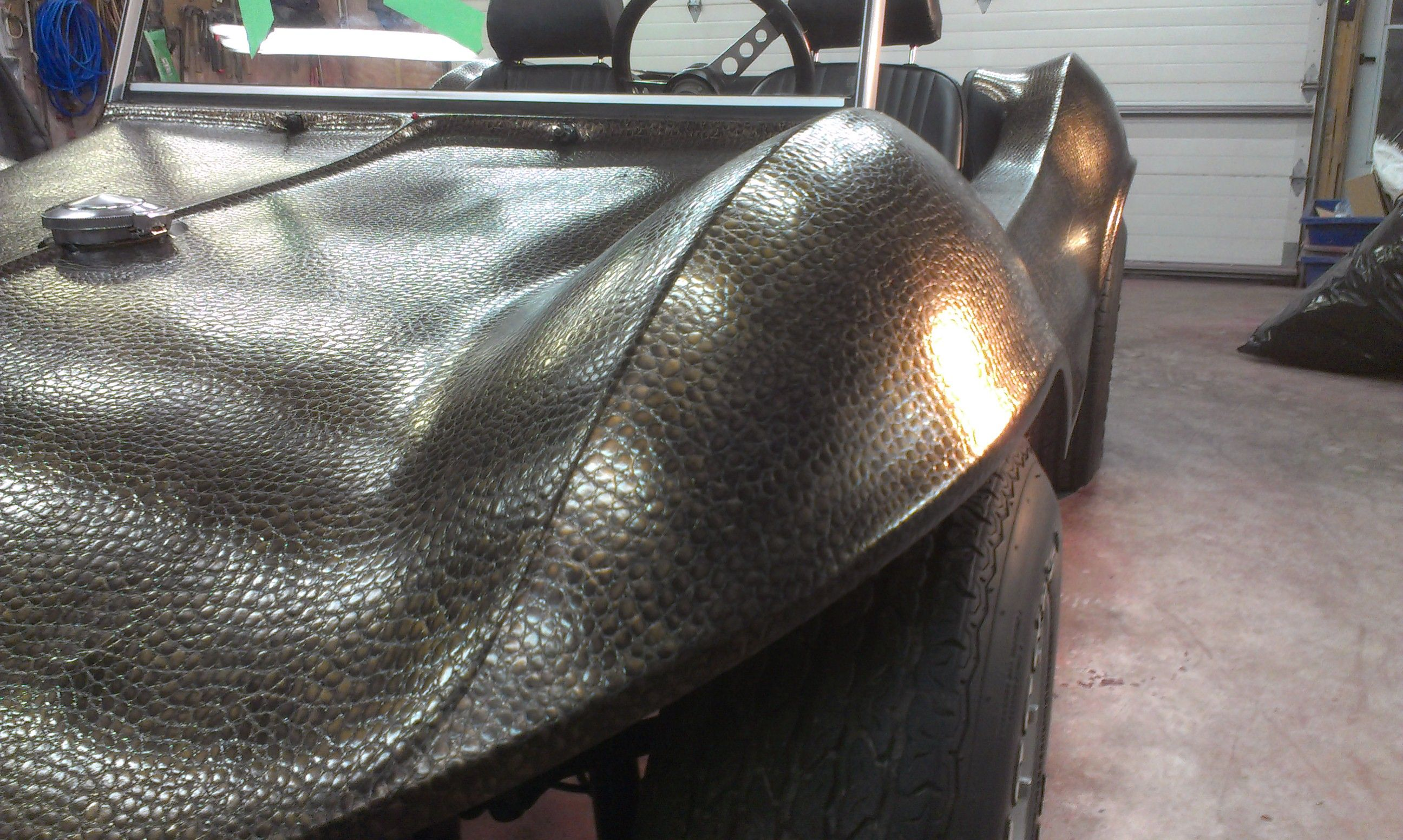 Dune Buggy With Hexis Alligator Skin Vehicle Wraps