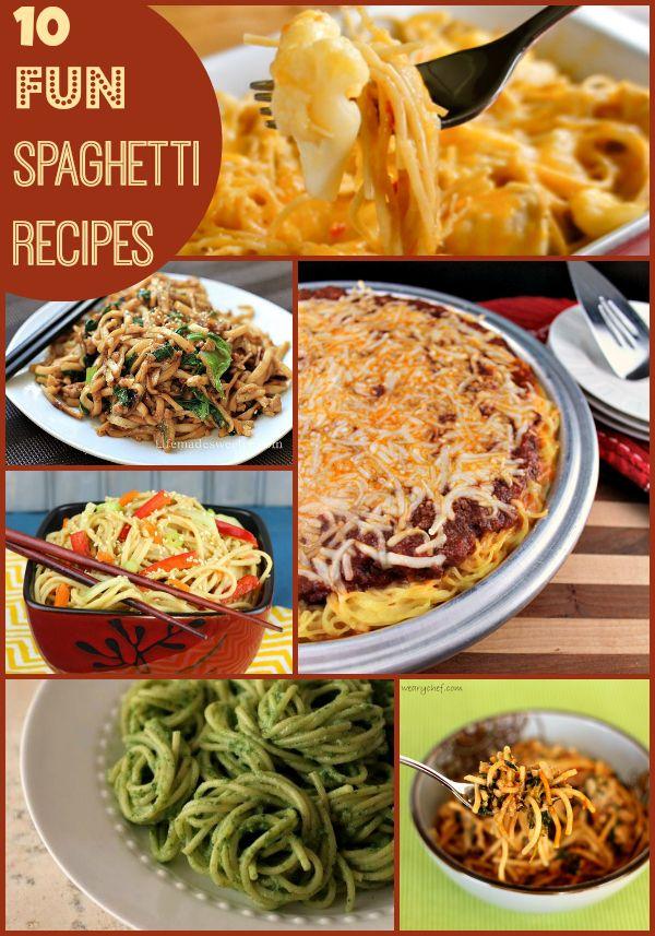 10 Fun Spaghetti Recipes The Weary Chef Spaghetti Recipes Recipes Cooking Recipes