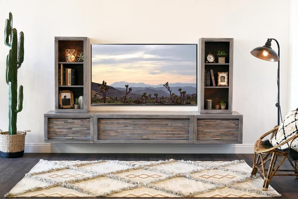Gray Floating Tv Stand Modern Wall Mount Entertainment Center Eco Geo Lakewood Floating Tv Stand Wall Mount Entertainment Center Modern Tv Stand