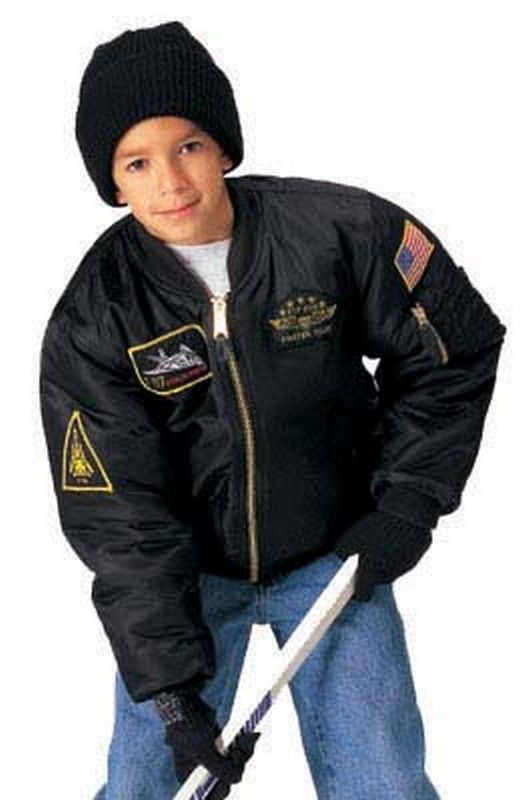 kids ma-1 flight jackets - top gun style childs flight jacket  39.71 with  insignia patches c4a33f6f9535