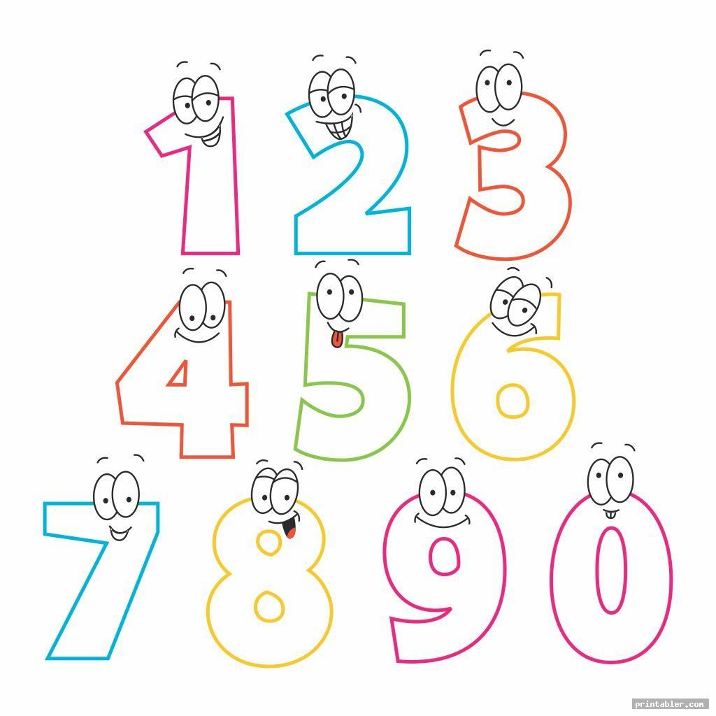 Bubble Numbers 1 10 Printable For Kids