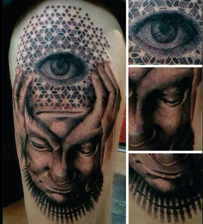 Surreal pixel third eye tattoo | INK | Pinterest | Ink ...