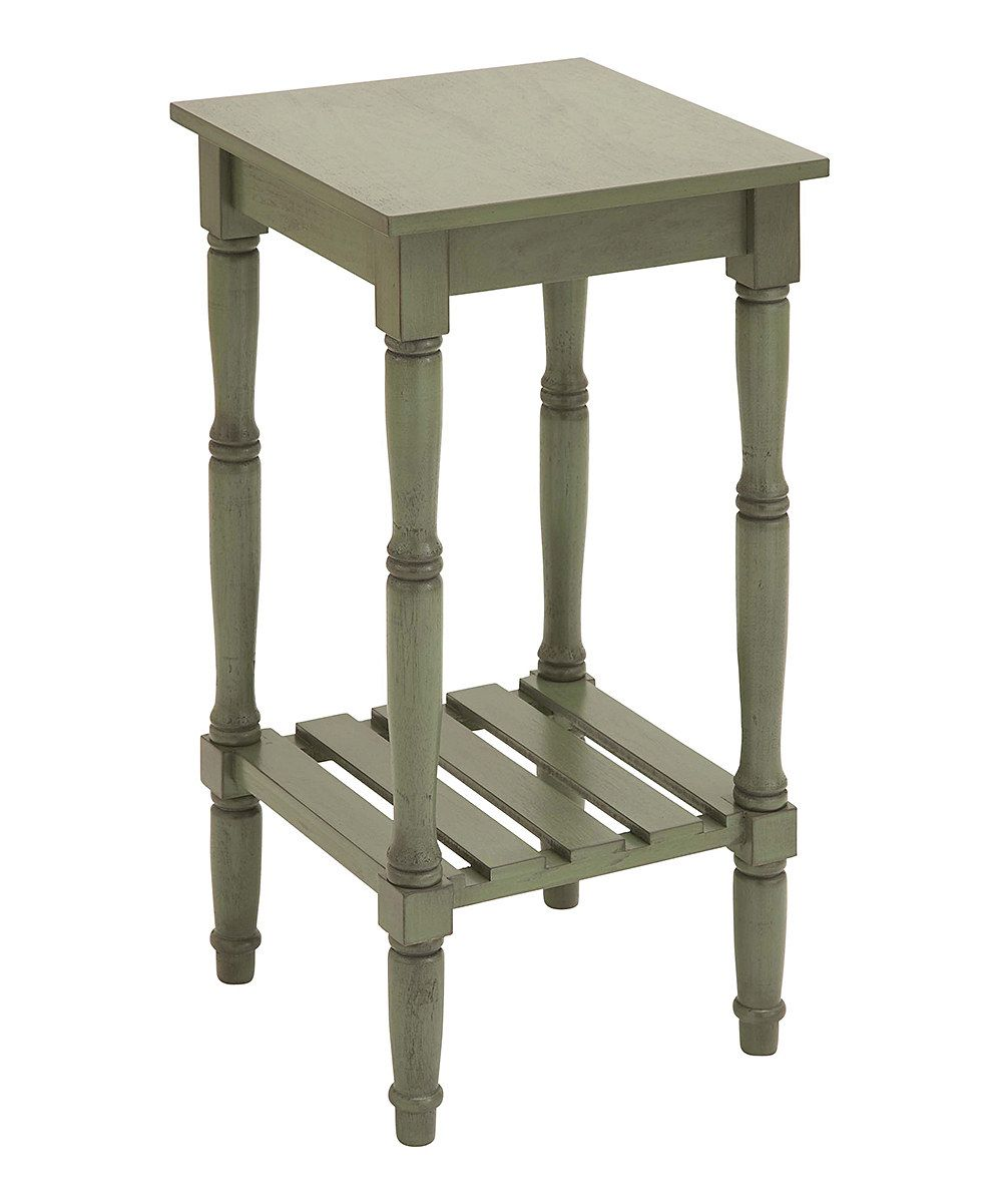 Look at this Green Two-Tier Accent Table on #zulily today!