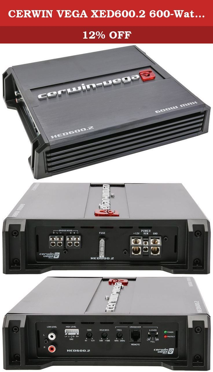 CERWIN VEGA XED600.2 600-Watt Class AB Amplifier, 2 Channels, 600W