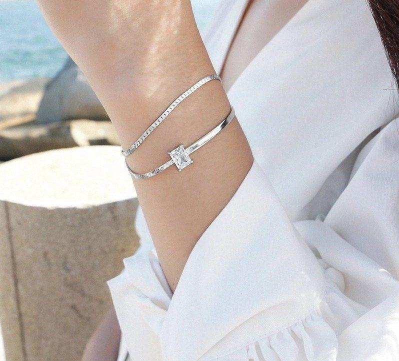 bracelet femme zirconium