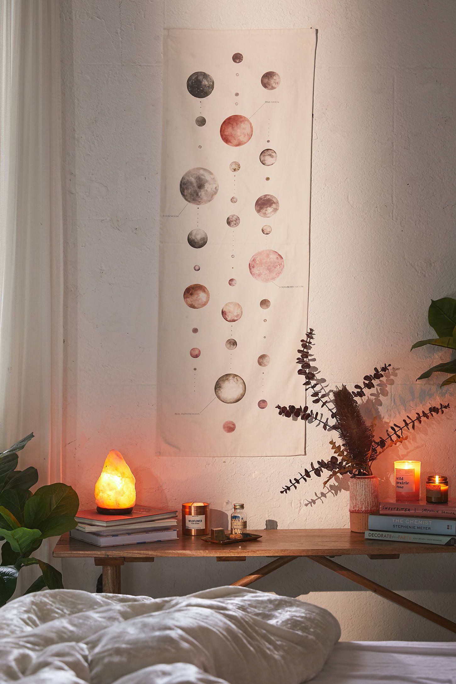Watercolor Lunar Chart Tapestry En 2020 Home Deco Deco Chambre