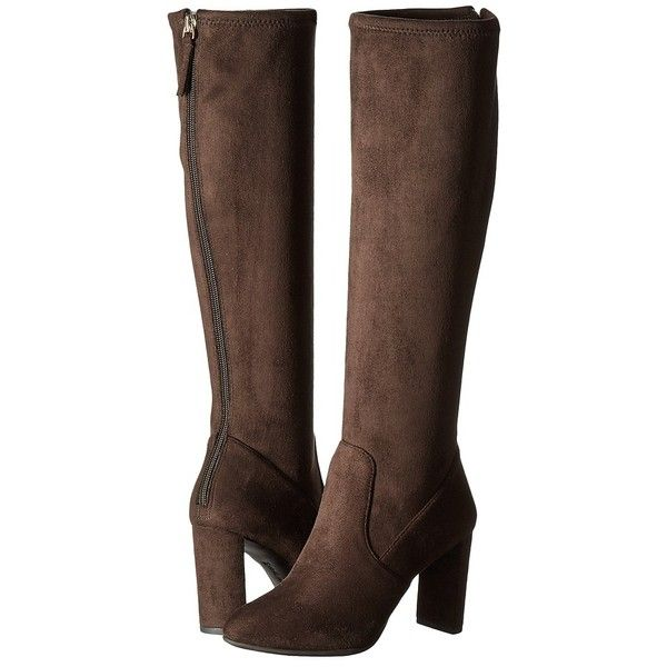 7fa0c17c8daf Nine West Kellan 2 (Dark Brown Fabric) Women's Shoes ($129) ❤ liked on  Polyvore featuring shoes, boots, knee-high boots, knee high boots, nine  west boots, ...